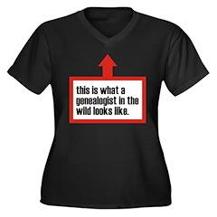In The Wild Women's Plus Size V-Neck Dark T-Shirt