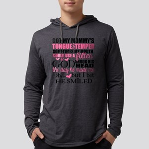 Mommy's Tongue & Temper Mens Hooded Shirt