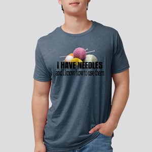 knitneedles2 Mens Tri-blend T-Shirt