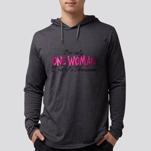 One Woman Mens Hooded Shirt