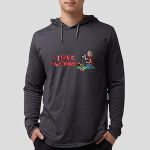 ilove Mens Hooded Shirt