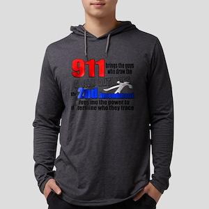 911 Chalk Outlines Mens Hooded Shirt