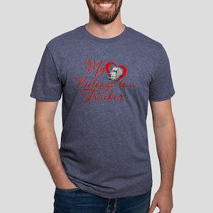 Trucker Heart Mens Tri-blend T-Shirt