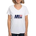 """""""M 08"""" Women's V-Neck T-Shirt"""
