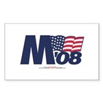 """M 08"" Rect Sticker (50)"