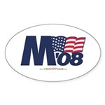"""M 08"" Oval Sticker (10)"