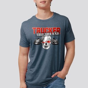 Trucker 'Till The End Mens Tri-blend T-Shirt