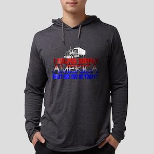 Helped Supply America Trucker Mens Hooded Shirt