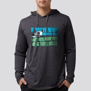 Trucker Back Off Mens Hooded Shirt