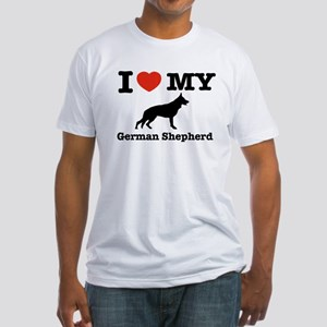 I love my German Shepherd Fitted T-Shirt