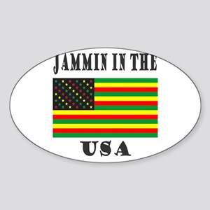 'Jammin in the USA' Oval Sticker