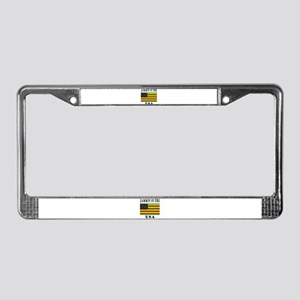 'Jammin in the USA' License Plate Frame