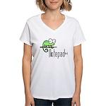 Notepad++ Women's V-Neck T-Shirt