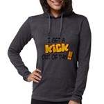 kick out of this Womens Hooded Shirt