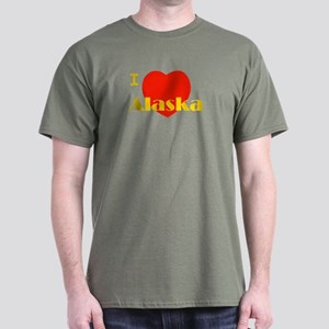 I Love Alaska! Dark T-Shirt
