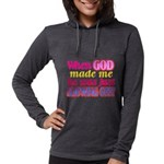 God Showing Off Womens Hooded Shirt