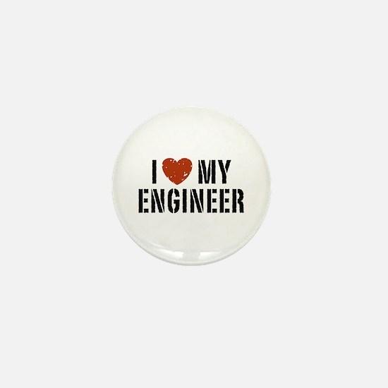 I Love My Engineer Mini Button