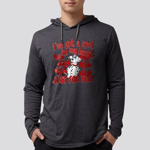 Dalmatian Valentine Mens Hooded Shirt