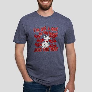 Dalmatian Valentine Mens Tri-blend T-Shirt