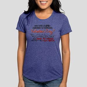 Why Was Cupid Chosen? Womens Tri-blend T-Shirt