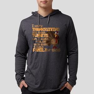 Turkey Family Mens Hooded Shirt