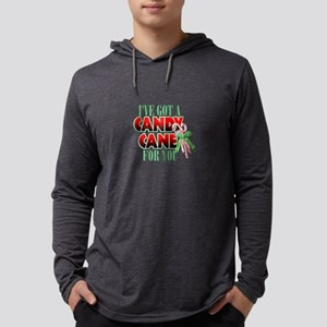 Candy Cane For You Mens Hooded Shirt