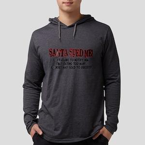 santa sued me Mens Hooded Shirt