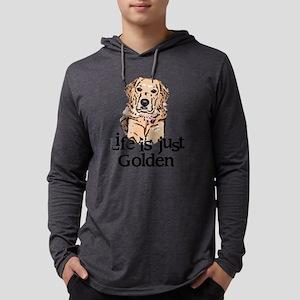 golden Mens Hooded Shirt