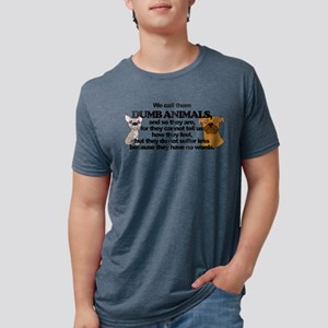 dumbanimals Mens Tri-blend T-Shirt
