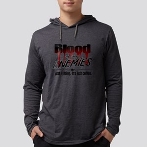 Coffee Blood Mens Hooded Shirt