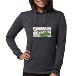 Crappochino Womens Hooded Shirt