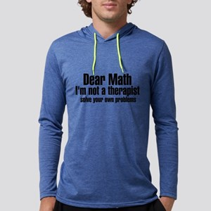 Dear Math Mens Hooded Shirt