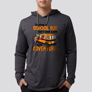 Driving a School Bus Mens Hooded Shirt