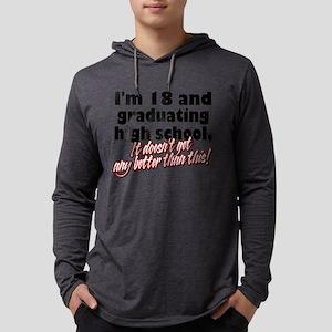18 AND GRAD Mens Hooded Shirt
