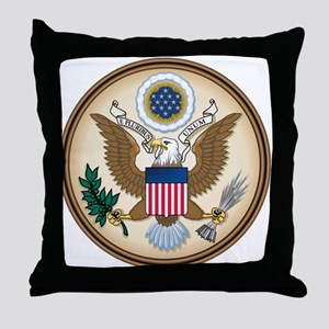 Presidents Seal Throw Pillow