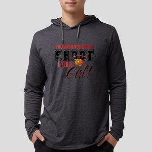 shoot like a girl2 Mens Hooded Shirt