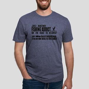 Fishing Addict Mens Tri-blend T-Shirt