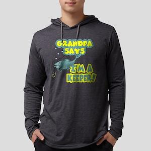 grandpa says Mens Hooded Shirt