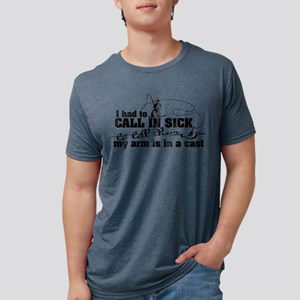 Arm in a Cast Fishing Mens Tri-blend T-Shirt