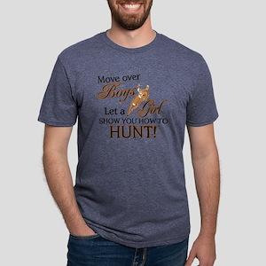 GIRLS HUNT2 Mens Tri-blend T-Shirt