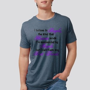 believe in angels Mens Tri-blend T-Shirt