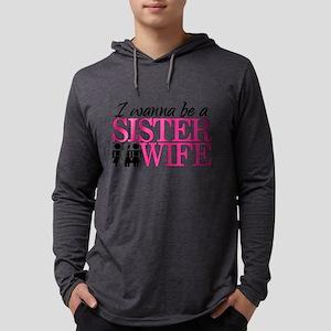 sister wife Mens Hooded Shirt