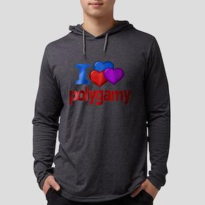 I Love Polygamy Mens Hooded Shirt