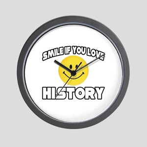 """""""Smile if You Love History"""" Wall Clock"""