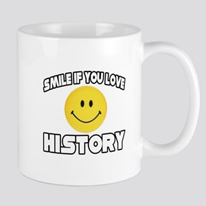 """Smile if You Love History"" Mug"