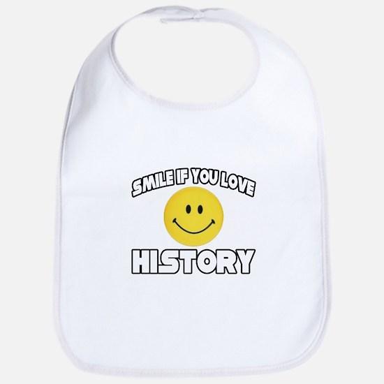 """Smile if You Love History"" Bib"