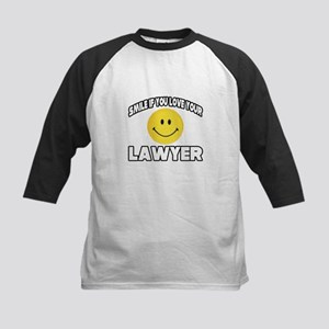 """""""Smile...Love Your Lawyer"""" Kids Baseball Jersey"""