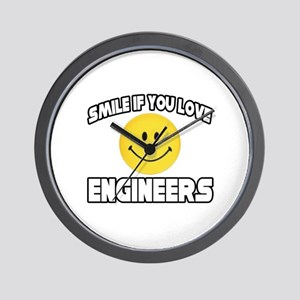 """Smile...Love Engineers"" Wall Clock"