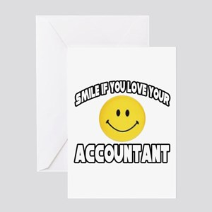 """""""Smile: Love Your Accountant"""" Greeting Card"""