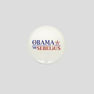Obama Sebelius 08 Mini Button